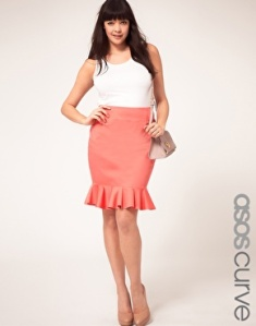 ASOS CURVE Exclusive Skirt With Peplum Hem